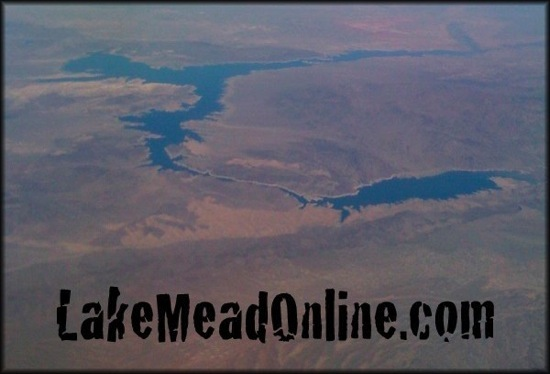 Lake Mead from 35,000 feet on April 25, 2010