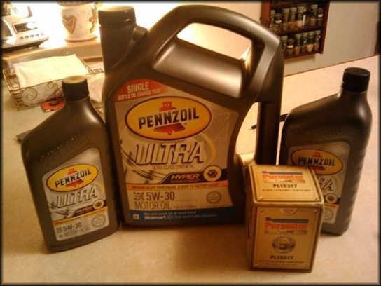 Pennzoil Ultra Five Quart Jug